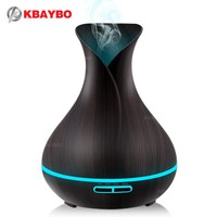 400ml Aroma Essential Oil Diffuser Ultrasonic Air Humidifier with Wood Grain 7 Color Changing LED Lights electric aroma diffuser