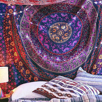 Tapestries Tapestry, Hippy Mandala Bohemian Tapestries, Indian Dorm Decor, Psychedelic Tapestry Wall Hanging Ethnic Decorative