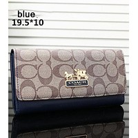 COACH 2018 new tide brand fashion women exquisite clutch F-OM-NBPF blue