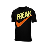 Nike Men's Dri-Fit Giannis Freak Tee Basketball T-Shirt Black Total Orange