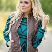 Catch You Later Fur-Lined Vest in Brown