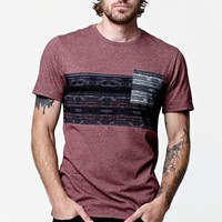 On The Byas Ratio Pocket Crew T-Shirt - Mens Shirt - Red