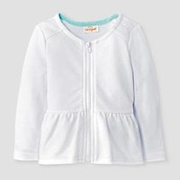 Baby Girls' Quilted Zip-Up Jacket Baby Cat & Jack™ - White