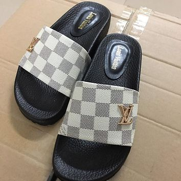 LV Louis Vuitton summer new sandals slippers shoes