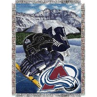 """Colorado Avalanche NHL Woven Tapestry Throw Blanket (48""""x60"""")"""