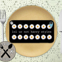 Lol Ur Not Harry Styles Daisy Flower Pattern 1D Cute Custom Rubber Case iPod 5th Generation and Plastic Case For The iPod 4th Generation