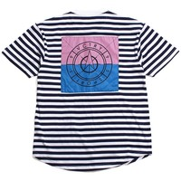 Navigator Scoop S/S T-Shirt White / Navy