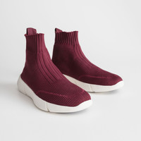 Sock Sneaker - Red - Sockboots - & Other Stories
