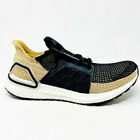 Adidas Ultraboost 19 Core Black Raw Sand Mens Size 9.5 Sneakers F35241