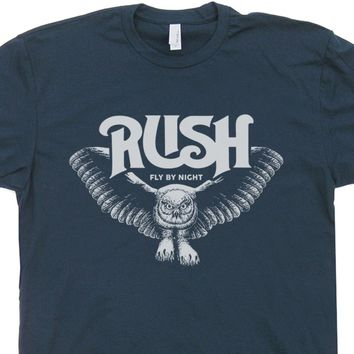 Rush T Shirt Vintage Classic Rock Band Shirts Owl Tee Shirt