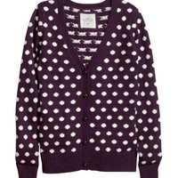Jacquard-knit Cardigan - from H&M