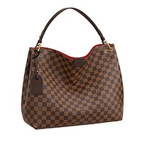 louis vuitton damier ebene graceful mm tote handbag article n44045