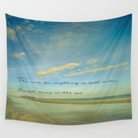 Sea Shore Wall Tapestry by Olivia Joy StClaire