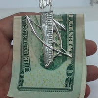Quiver, Archery, Cool Mens Gift, Bow And Arrow,Man Gift, Designer Money Clip, Handmade Gift, Silver Money Clip, Gift For Him, Boyfriend Gift