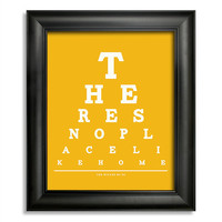 The Wizard of Oz, There's No Place Like Home Eye Chart, 8 x 10 Giclee Print BUY 2 GET 1 FREE