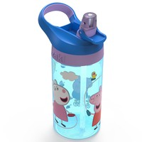 Peppa Pig Zak Designs 16oz Plastic Water Bottle Blue/Purple