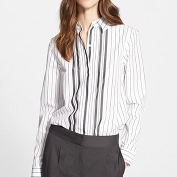 Women's Nordstrom Signature and Caroline Issa Stripe Cotton Shirt