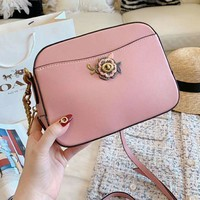 COACH Newest Fashion Women Leather Crossbody Satchel Shoulder Bag Pink