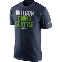 Russell Wilson Seattle Seahawks Nike Player Owns T-Shirt – Navy