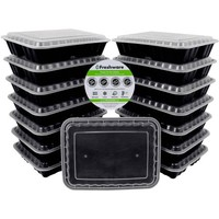 Freshware 15-Pack 3-Compartment Lunch Bento Box Reusable and Microwavable Food Container with Lids, YH-9598 - Walmart.com