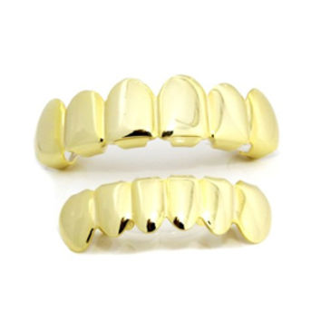 The God or Guns 14K Gold Plated Grill Set