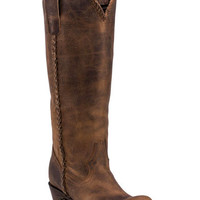 Lane Plain Jane Brown Cowgirl Boots - Round Toe