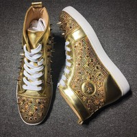 Cl Christian Louboutin Rythinestone Style #1924 Sneakers Fashion Shoes
