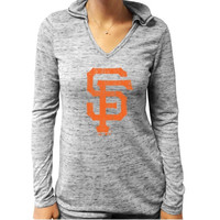San Francisco Giants Majestic Threads Women's Long Sleeve Hooded Thermal T-Shirt – Black