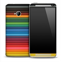 Coordinated Color Pencils Skin for the HTC One Phone
