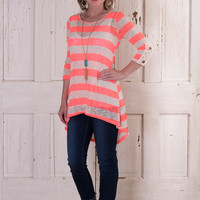 See You At The Fair Tunic - Neon Coral