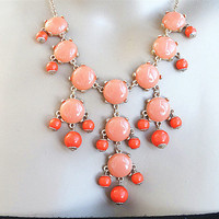 MINI Bubble Necklace ,16mm bubble,JCrew Style Inspired Statement Necklace ,coral necklace ,wedding Bridesmaids Jewelries