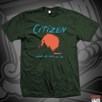 CIT WEAVE SUN TEE ON FOREST GREEN