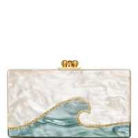 Rectangular Jean Tidal Wave Clutch