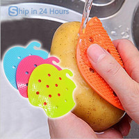2016 Multi-functional Fruit Vegetable Brush cooking tool Easy Cleaning Brush Kitchen Gadgets