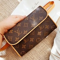 LV New fashion monogram print leather waist bag shoulder bag crossbody bag