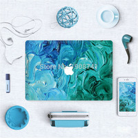 Blue and Green Paint Front Cover Laptop Decal Sticker Case For Apple Macbook Pro Retina 13 13.3 Inch Guard Protective Cover Skin