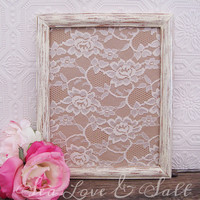 Antique White Picture Frame Set Of 2 Shabby Chic Wall Decor