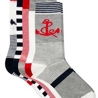 ASOS 5 Pack Socks With Anchor
