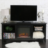 Home Loft Concepts TV Stand with Electric Fireplace