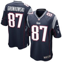 Mens New England Patriots Rob Gronkowski Nike Navy Blue Game Jersey