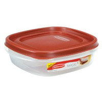 Rubbermaid Square Food Storage Container 3 Cup Clear Base