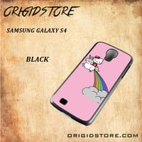 HELLO KITTY UNICORN Snap on 2D Black and White Or 3D Suitable With Image For Samsung Galaxy S4 Case