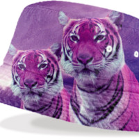 Purple Tiger Bucket Hat created by ErikaKaisersot | Print All Over Me
