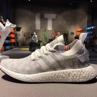 Best Online Sale Adidas NMD R2 Primeknit Grey 1 Boost Sport Running Shoes Classic Casual Shoes Sneakers