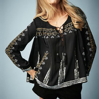 **Embroidered Smock Blouse by Kate ...