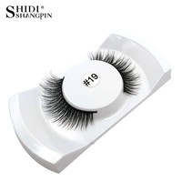 1 Pair False Eyelashes Natural Makeup 3d Mink Lashes Long Fake Eyelashes Eyelash Extension Faux Strip Eye Lashes Non Magnet #19