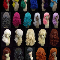 """ZKETCH 18"""" Women's Wavy Curly Hair Fully Adjustable Lace Synthetic Wig - 12 COLORS to choose from"""