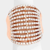 Wide Multi-Row Crystal Ring