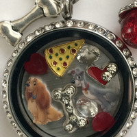 Lady And The Tramp Inspired Memory Locket Necklace