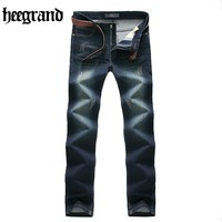 HEE GRAND 2018 Classic Men's Scratched Jeans